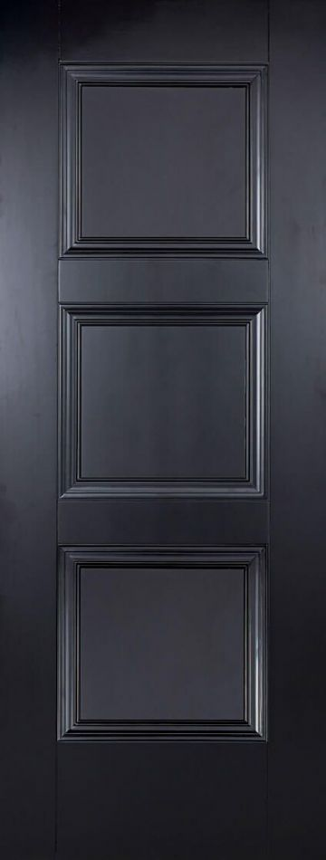 Black Amsterdam Fire Door